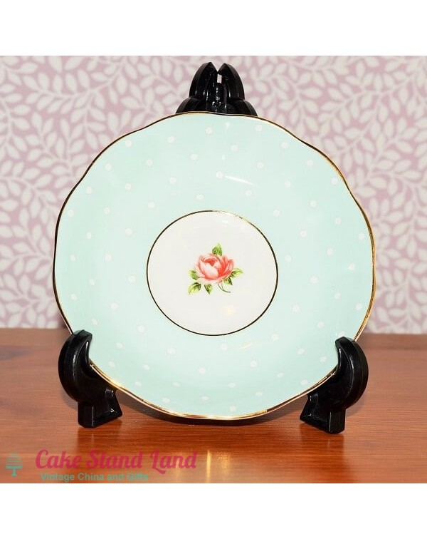 (OUT OF STOCK) ROYAL ALBERT POLKA ROSE SAUCER