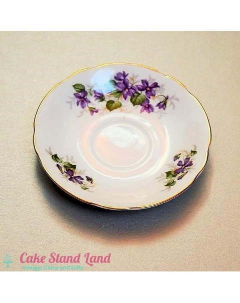 (OUT OF STOCK) Duchess Violets Saucer