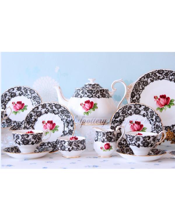 (OUT OF STOCK) ROYAL ALBERT SENORITA TEA SET WITH ...