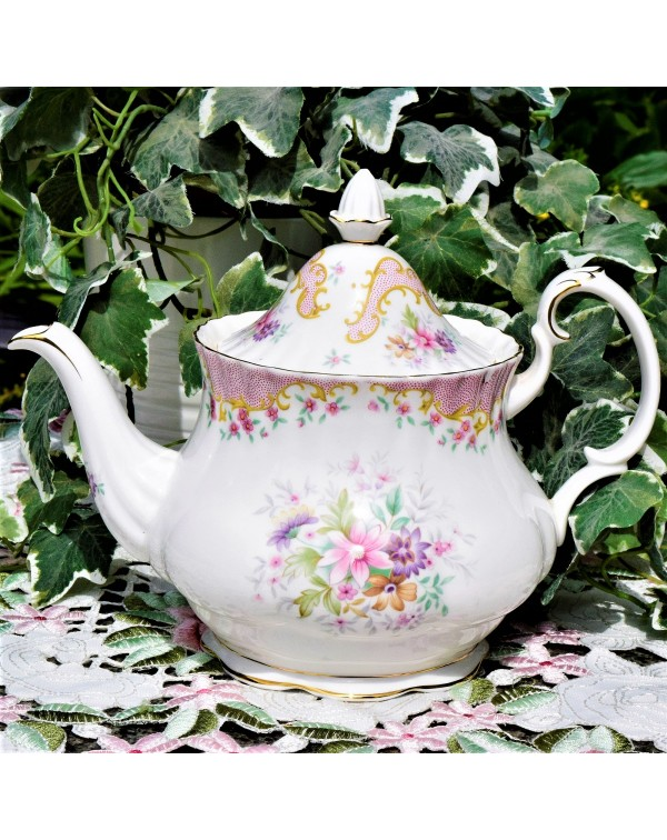 (SOLD) ROYAL ALBERT SERENITY  SMALL TEAPOT