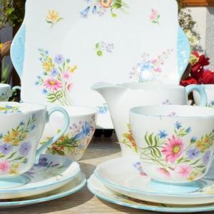 SHELLEY WILD FLOWERS TEA SERVICE