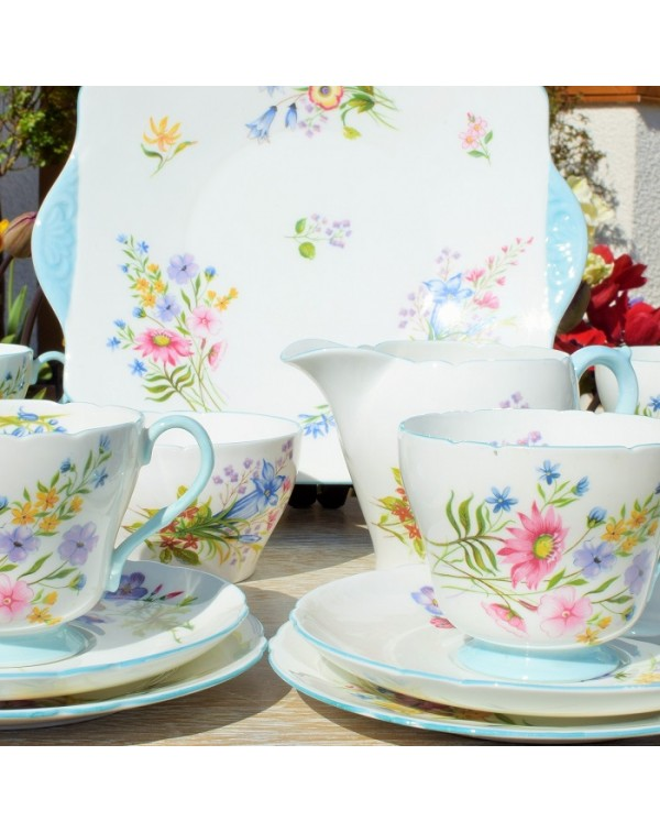(OUT OF STOCK) SHELLEY WILD FLOWERS TEA SERVICE