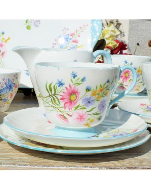 (SOLD) SHELLEY WILD FLOWERS TEA SERVICE