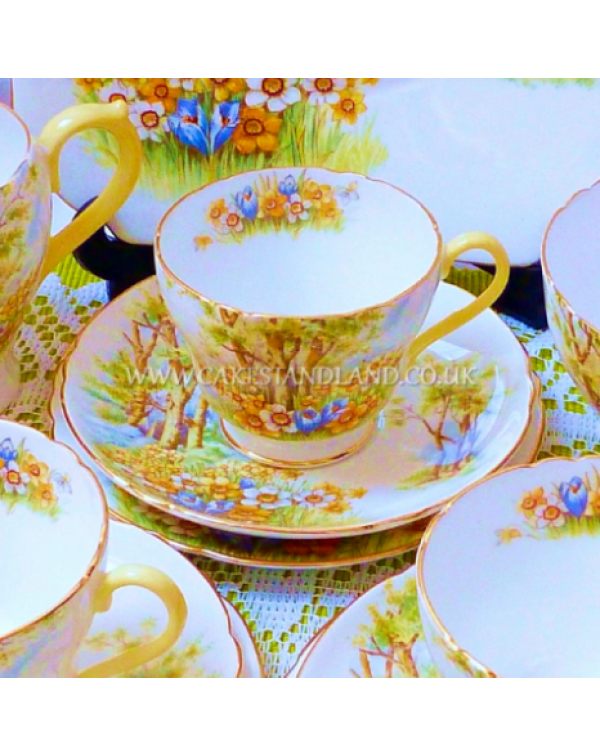 (OUT OF STOCK) SHELLEY DAFFODIL VINTAGE TEA SET FO...