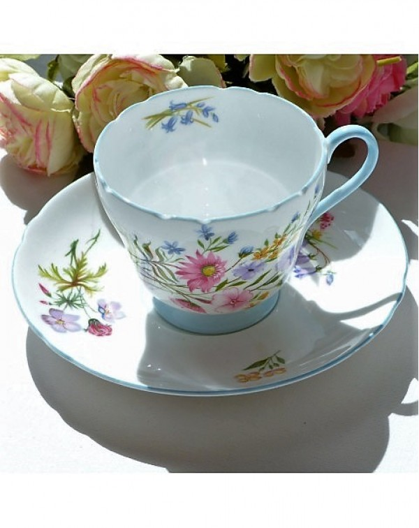 SHELLEY WILD FLOWERS TEA CUP & SAUCER