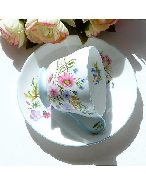 SHELLEY WILD FLOWERS TEA CUP & SAUCER