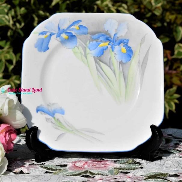 (SOLD) SHELLEY BLUE IRIS TEA PLATE 16 cm