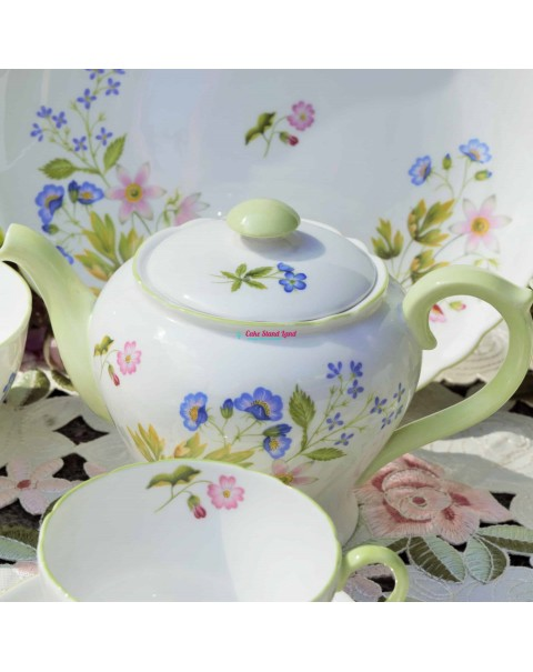 (SOLD) SHELLEY WILD ANEMONE TEA SET & TEAPOT