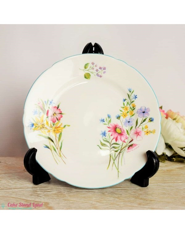 (OUT OF STOCK) SHELLEY WILD FLOWERS TEA PLATE
