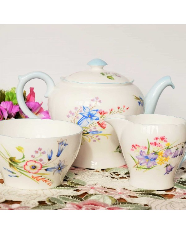 (SOLD) SHELLEY  WILD FLOWERS VINTAGE 2 CUP TEAPOT ...