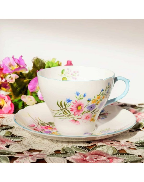 SHELLEY WILDFLOWERS LARGE BREAKFAST CUP AND SAUCER