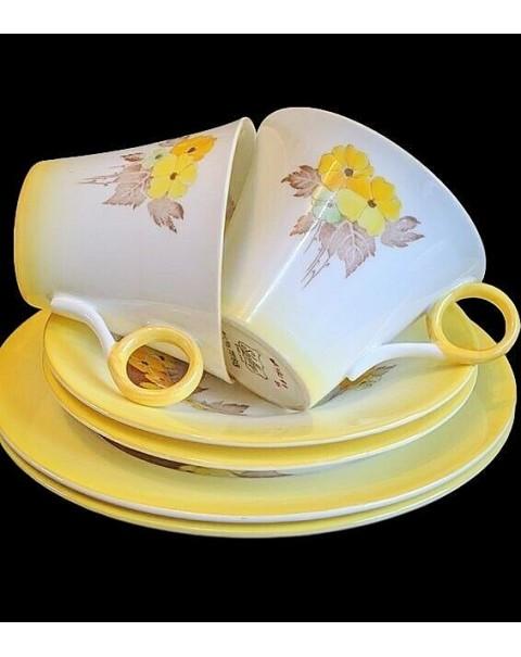 (SOLD) SHELLEY YELLOW PHLOX TEA SET