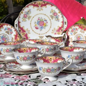 SHELLEY SHERATON PINK TEA SET