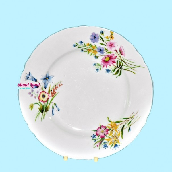 (SOLD) SHELLEY WILD FLOWERS SALAD PLATE 19 cm