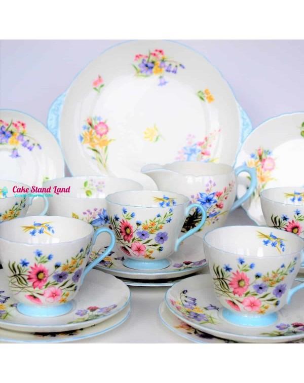 (SOLD) SHELLEY WILD FLOWERS TEA SET