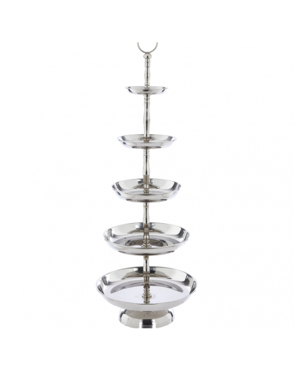 (OUT OF STOCK) SILVER 5 TIER CAKE STAND