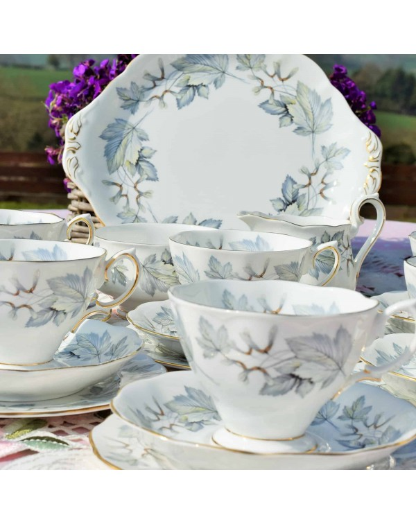 ROYAL ALBERT SILVER MAPLE TEA SET