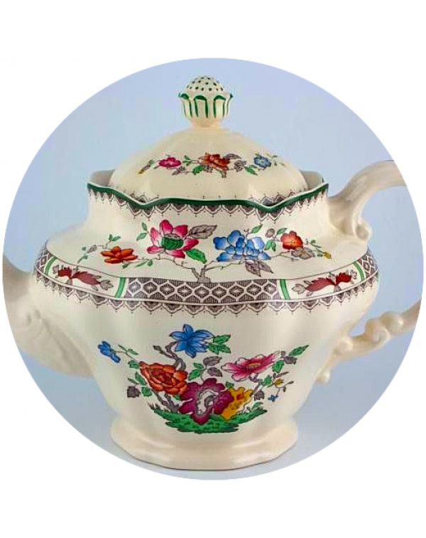 (OUT OF STOCK) SPODE CHINESE ROSE VINTAGE TEAPOT