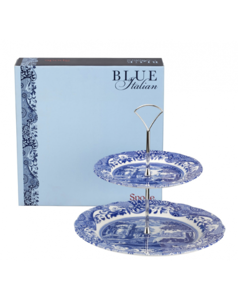 (OUT OF STOCK) SPODE BLUE ITALIAN CAKE STAND