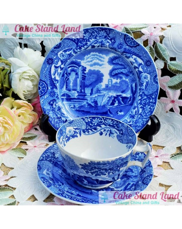 (OUT OF STOCK) COPELAND SPODE BLUE ITALIAN TRIO