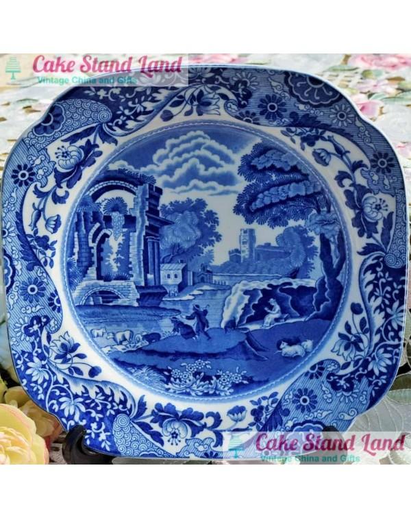 COPELAND SPODE BLUE ITALIAN SQUARE PLATE