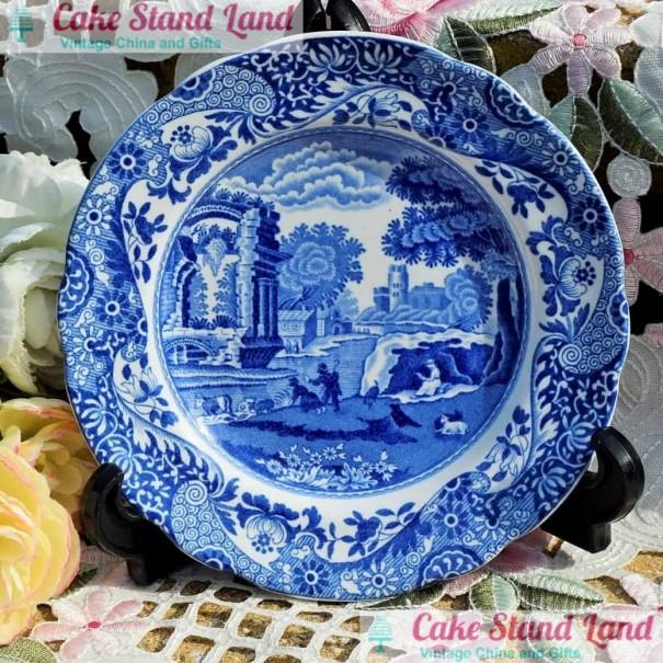 (SOLD) COPELAND SPODE BLUE ITALIAN TEA PLATE