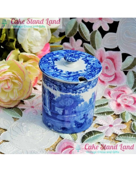 (OUT OF STOCK) COPELAND SPODE BLUE ITALIAN PRESERVE POT