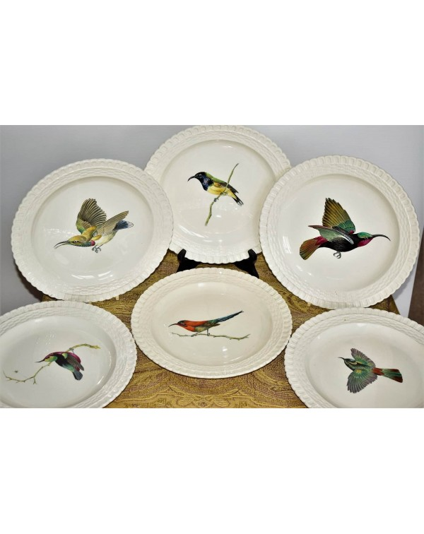 (SOLD) COPELAND SPODE BIRD PLATES SET