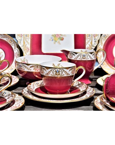 (SOLD) SPODE REGENT SCARLET TEA SET