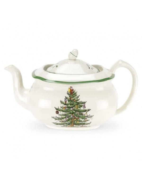 (SOLD) SPODE CHRISTMAS TREE LARGE TEAPOT