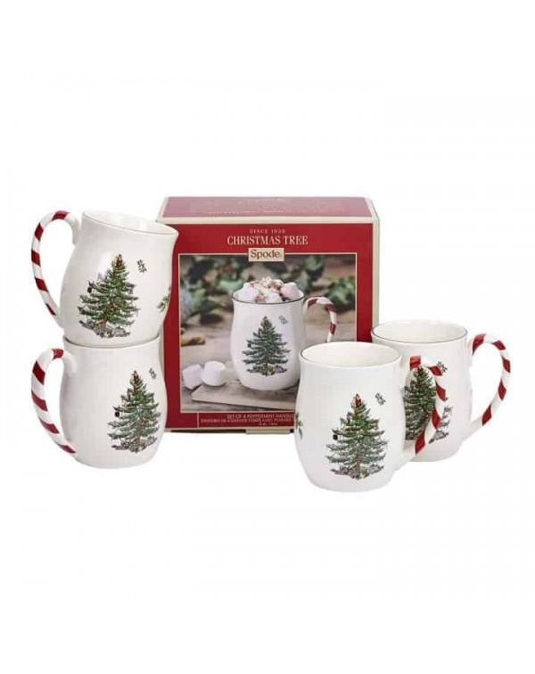 SET OF 4 SPODE CHRISTMAS MUGS