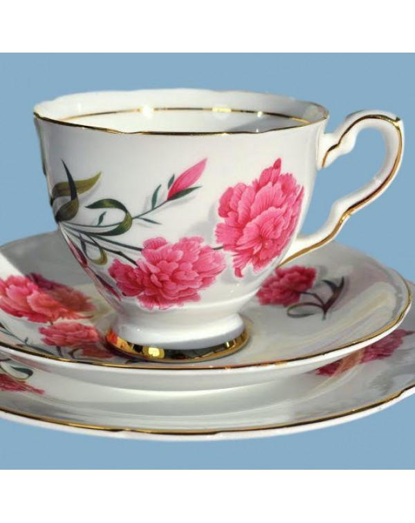 ROYAL STAFFORD CARNATION TEA TRIO