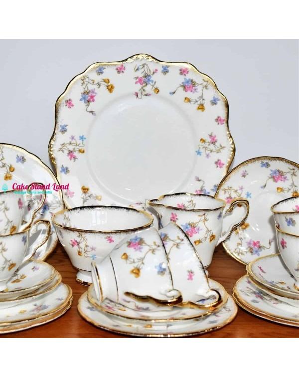 (SOLD) ROYAL STAFFORD POMPADOUR TEA SET