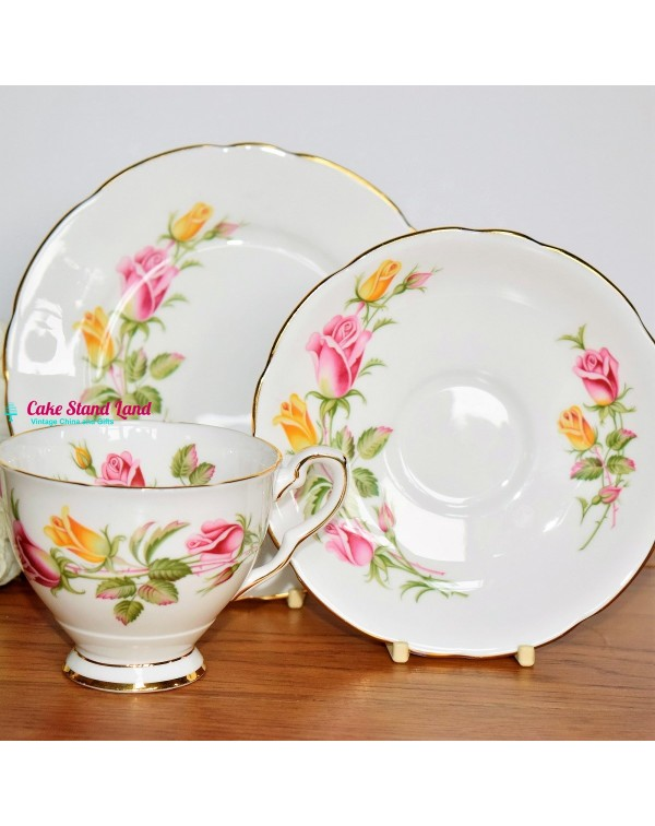 ROYAL STAFFORD ROSES TEA TRIO
