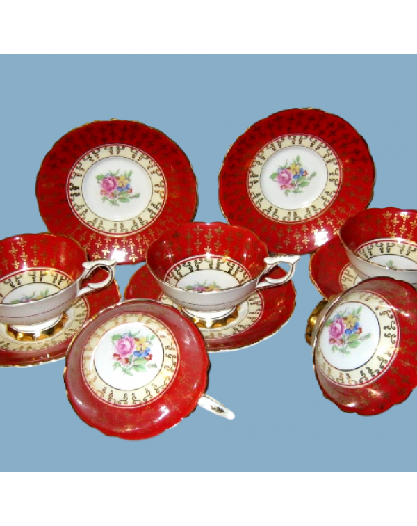 (OUT OF STOCK) ROYAL STAFFORD AVON RED FLORAL TEA ...