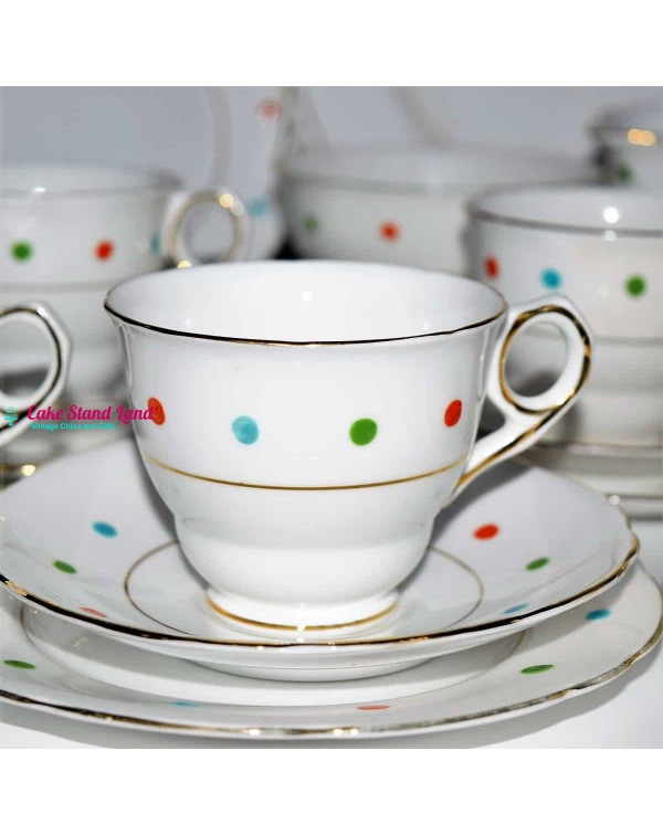 ROYAL STAFFORD POLKA DOT TEA TRIO