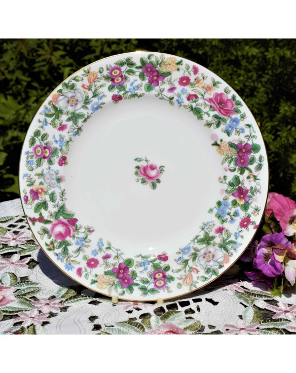 CROWN STAFFS SALAD PLATE THOUSAND FLOWERS