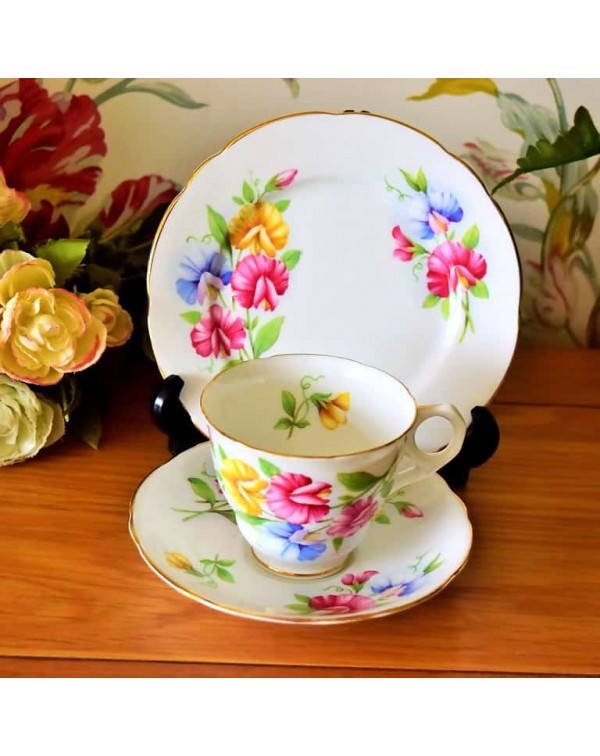 (OUT OF STOCK) ROYAL STAFFORD SWEET PEA TEA TRIO