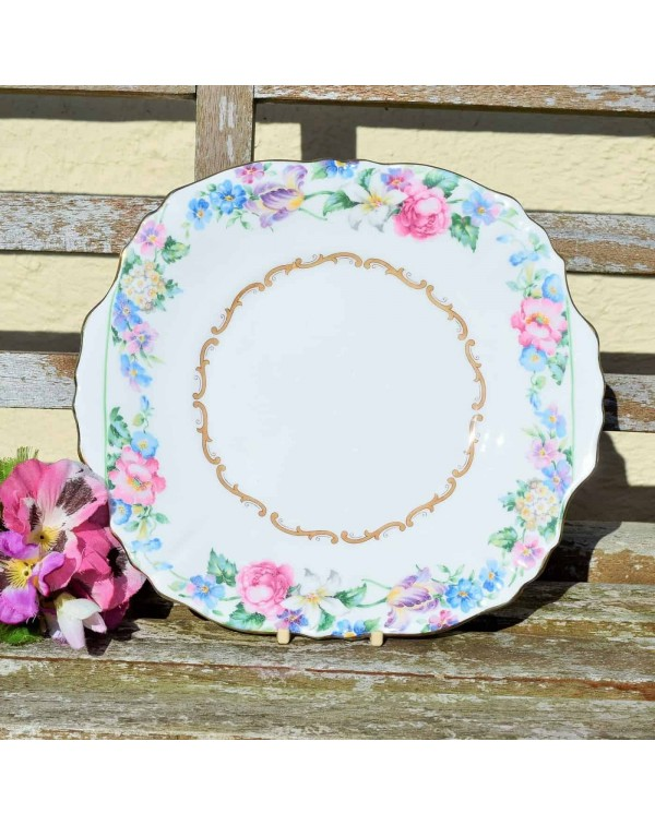 CROWN STAFFORDSHIRE CAKE PLATE