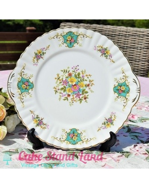 (OUT OF STOCK) ROYAL STAFFORD CAKE PLATE TRUE LOVE
