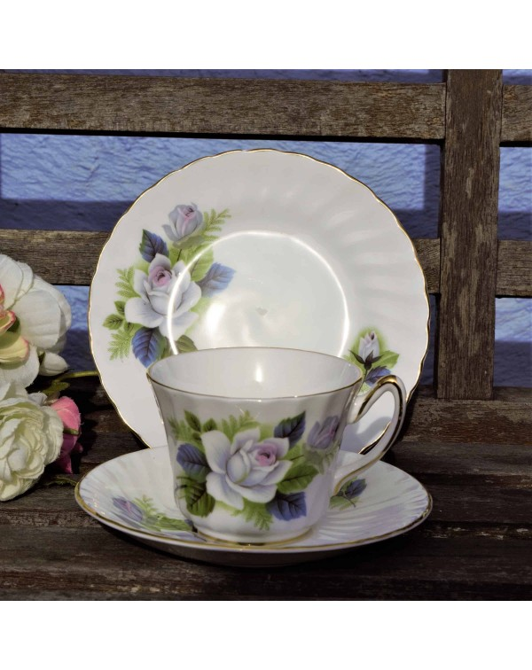 SUTHERLAND WHITE ROSE TEA TRIO