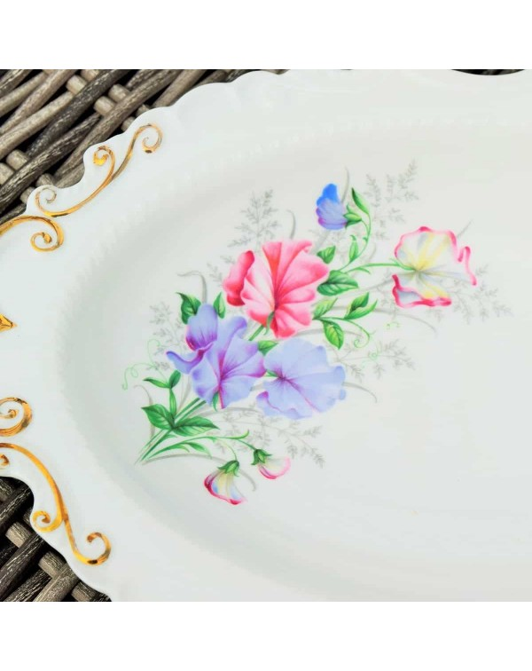 (OUT OF STOCK) ROYAL ALBERT SWEET PEA BISCUIT PLAT...