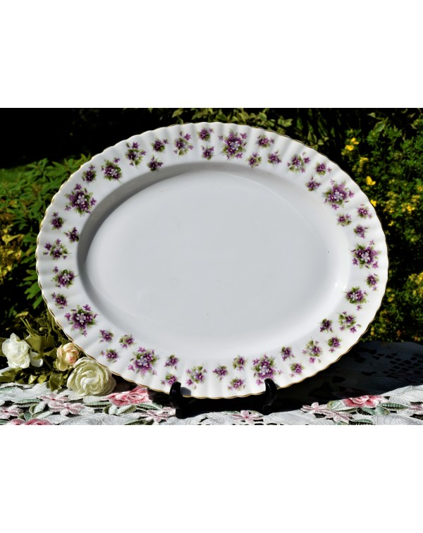 ROYAL ALBERT SWEET VIOLETS HUGE MEAT PLATTER