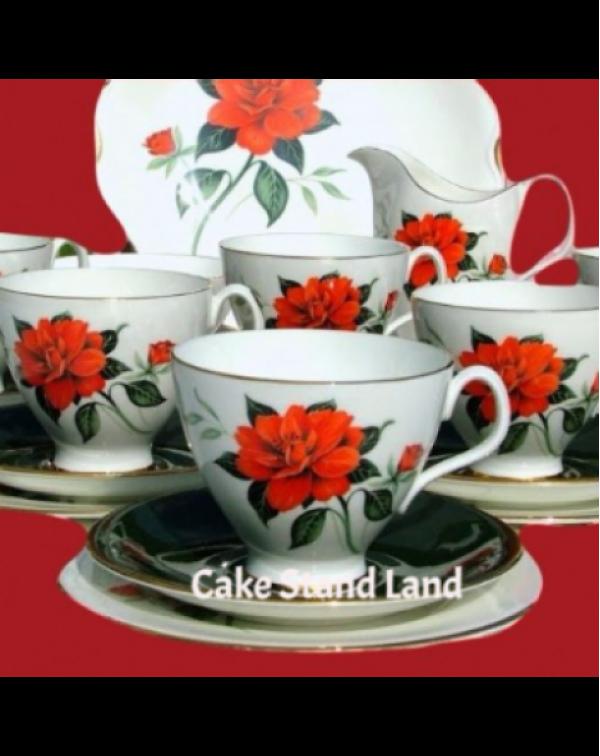 ROYAL ALBERT TAHITI TEA SET