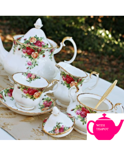 (OUT OF STOCK) OLD COUNTRY ROSES TEA SET FOR TWO