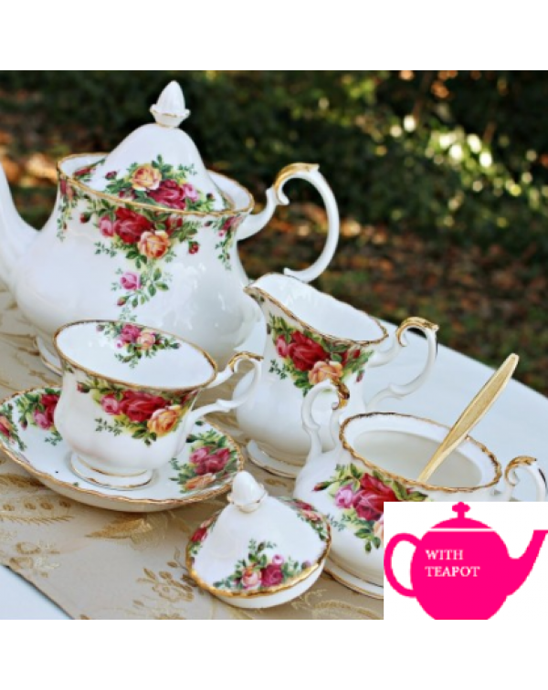 OLD COUNTRY ROSES TEA SET FOR TWO