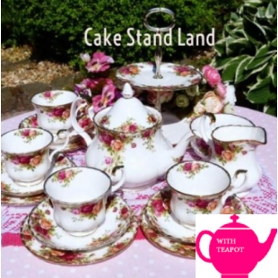 OLD COUNTRY ROSES TEA SET FOR 4