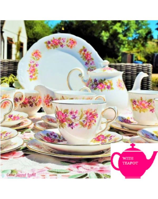 (OUT OF STOCK) COLCLOUGH WAYSIDE TEA SET WITH TEAP...