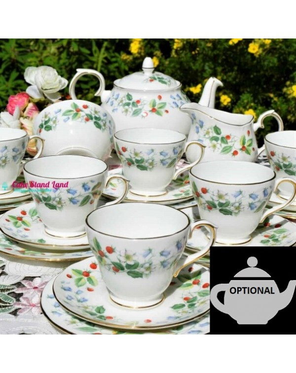 (SOLD) DUCHESS STRAWBERRY FIELDS TEA SET
