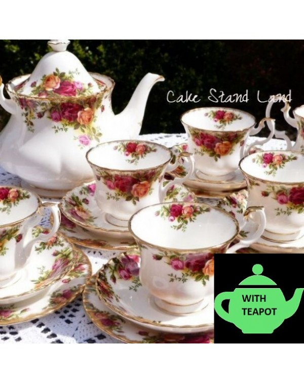 (DUE SOON) OLD COUNTRY ROSES TEA SET FOR 6